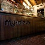 Banco in ferro acidato brand MYALE