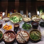 Shabu shabu vegetable table