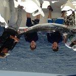 Kids marlin fishing aboard the Gaviota with Capt. Cesar