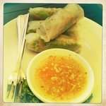 yum yum prawn and veg spring rolls
