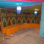 dinning room at Sahara Camp