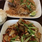 Delicious Pad Thai (top) and Cashew Chicken (bottom)!!!