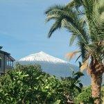 teide, about 3800m high, seen from garden