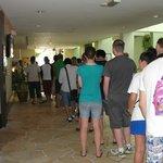 The endless buffet breakfast queue