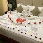 Birthday cum honeymoon decor