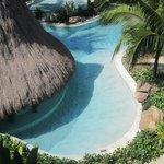 Sandy-bottom pool