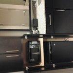 sink coffemaker fridge microwave