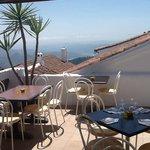 terrace seating at La Granada divino