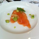 Cured salmon starter - smaller than it looked here.