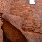 Pueblo built around natural rock formations