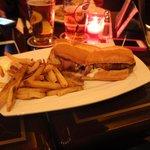 Beef sandwich-sinewy