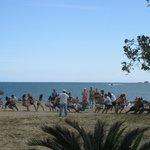 Olympics Tug o' War on the Beach