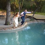 Jumping into wedded life...at Garonga Safari Camp