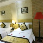 Our double room, clean and comfortable...