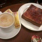 tostada riquisima y cafe