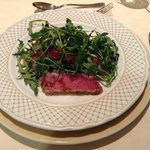 Tuna Steak with Rocket Salad