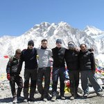 At the top with Kumar and our Porters, Keiran and Boz
