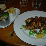 Chargrilled spatchcock poussin