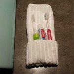 Housekeeper found my toothbrush placed in a glass and made a clean towel holder instead.