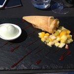 Dessert 1 : Corne d'Abondance et son Sorbet Citron