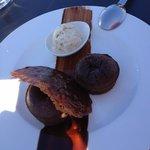 Dessert 2 : Moelleux au Chocolat et sa Glace Vanille