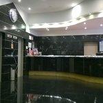 Lobby of hotel.