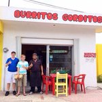 Harrison & Nathan with the owner of Burritos Gorditos in Cozumel, Mezico.