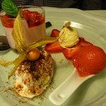 Gasthaus Rebstock Variationen von der Erdbeere