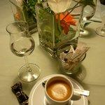 Gasthaus Rebstock Espresso und Zibärtle (Wildpflaume)