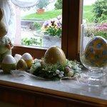 Gasthaus Rebstock liebevolle Osterdekoration