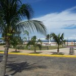 Malecon and beach from the hotel entrance