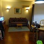 sitting area in studio apartment