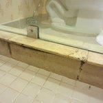 mold inside shower room 1930