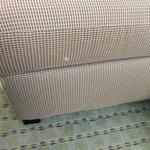 White stain on sofa