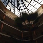hotel lobby (looking up)