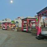 Cabanas area on the beach