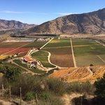 La vista del valle desde el cerro Chaman