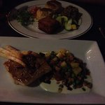 Rockfish and crab cakes  entree