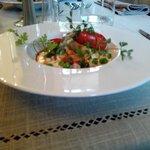 Nage d'écrevisse aux Eclats de légumes de primtemps