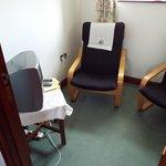 Twin Room seating / tv area