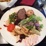 Just one of my plates..you can eat your weight in meat & fresh salad :-)