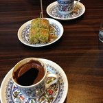 great Turkish coffee and the Baklava was gratis