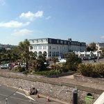 hotel from bridge to the beach