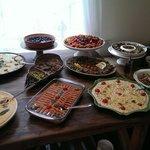 Vegetarian tapas buffet