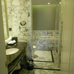 Huge marble bath with heated toilet