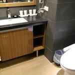 Very clean, updated, modern bathroom
