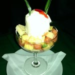 Fruit with Icecream