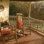 Peaceful wraparound porch for quiet mornings.