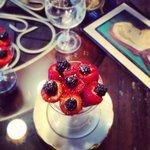 Summer berries make the sweetest and prettiest dessert