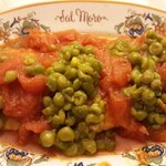Veal with peas and tomatoes Wow!